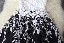 dresses / white and black lace