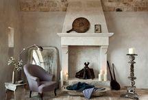 Simple rustic interiors