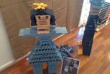 Light it up Blue / Shine a light on Autism by building with all blue blocks