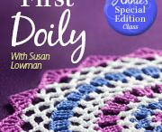 "Crochet Classes / These projects are part of my online crochet class with Annie's called ""Crocheting With Thread"". The doily is also part of another online class I did for Annie's called ""Beginner's First Doily"". To view these classes and all the other online classes with Annie's, visit their website at http://www.anniescatalog.com/onlineclasses/index.html.   / by Susan Lowman"