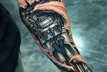 Mechanical style tattoos / collection of robotic style tattoo and images for reference