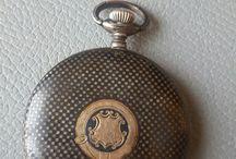 Tavannes savonette pocket watch niello silver