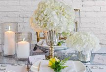 Styleboxe White Elegance Wedding Table Decor Set