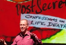 """Frank Warren of Postsecret: September 10, 2015 / Frank Warren, """"the most trusted stranger in America,"""" is the sole founder and curator of the PostSecret Project: A collection of over 300,000 highly personal and artfully decorated postcards mailed anonymously from around the world, displaying the soulful secrets we never voice. Warren is headed to the Long Center September 10th at 8PM for a night of secrets, stories, and strength."""