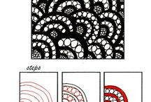 Art: Doodle &Tangle tutorials / step by step tutorials