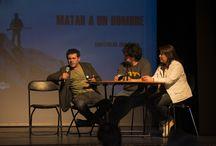 """ESTRENO 'MATAR A UN HOMBRE' / Presentación de la película chilena """"Matar a un hombre"""" en la Corporación Cultural Artistas del Acero. La actividad, que se enmarca dentro del ciclo """"Cine en Artistas del ACero"""", contó con la presencia de Alejandro Fernández -director de la cinta- y de sus protagonistas.  Fotos: CinemaChile"""