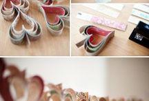 Papirhobby / Papirbretting dekor til hjemmebruk - kirigami, origami