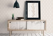 Geometric Wallpaper & Interiors