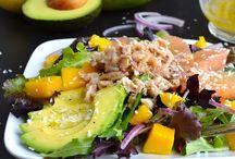 Salads / Mostly vegetarian and some vegan salads