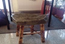 stone age chair / stone
