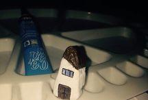 Casa pictata pe piatra#house painted stones