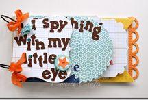 """""""My Minds Eye"""" Mini Albums / Mini albums I found on """"My Minds Eye"""" blog. I love mini albums. / by Heather Gibbs"""