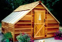 Cedar Sunhouses / The Cedarshed Sunhouse kit makes an ideal hobby greenhouse, workshop or backyard studio.