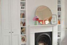 wardrobe around fireplace