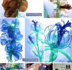 flores / Flores con botellas de plástico