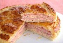 pastel de jamon york y pollo