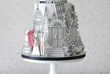 Silhouette monument cake