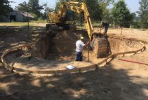 Hurley - Project / Freeform swimming pool with a weeping wall.