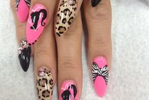 Barbie nails and makeup
