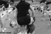 Cheer basket toss
