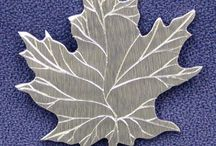 Leaf Pins / Three Feathers Pewter - Leaf #Pins - 12 East Jackson Street #Millersburg, #Ohio 44654-1214 Phone 330-674-0404 www.threefeatherspewter.com