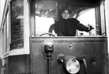 1914-1918 femme conduisant un tramway
