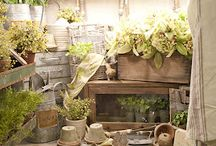 Potting Shed Ideas / I had a wonderful shed built for potting plants and doing crafts in.  It is so much fun to have this wonderful space.