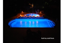 Swimming Pool Night Life / Make your swimming pool your night life hot spot with soothing sounds of falling water and mood lighting.