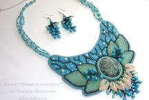 Beadwork by Ulyana Moldovyan / Beaded jewelry by Ulyana Moldovyan. Necklaces, earrings, bracelets etc. DIY, tutorials.