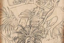 Sketches / Game art concept sketches