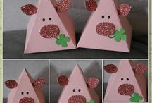 Freunde mit Ecken und Kanten / Pyramid Pals (Thinlits Stampin up) / Verpackungen