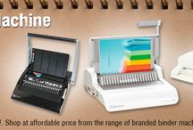 Binding Machines / Get everything you need for your #bindingbusiness or task. We offer wide range of #bindingmachines, #bindingaccessories, #bindingcombs, polycovers and other #bindingcovers. All products available at reasonable rates.
