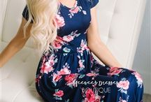 floral maxi dress with sleeves