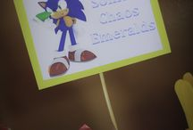 Sonic the hedgehog birthday party / by Julie Newell