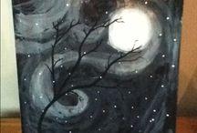 Moon / Winter painting