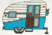 CARAVAN-CAMPER VAN*CROSS STITCH-EMBROIDERY