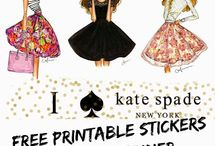 kate spade + planner stickers