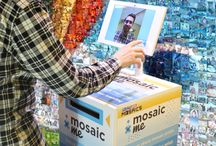 MosaicMe / The world's first and only instant photo mosaic print solution. This all-in-one kiosk snaps a photo, analyzes it for colors and shapes, and prints out a personalized mosaic with your custom branding in less than 30 seconds.