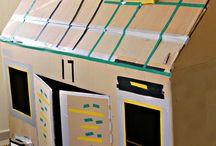 Cardboard box models