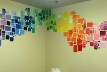 Стена радуга