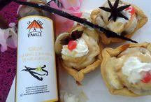 Tartelettes Banane, Sirop à la vanille, Crème fouettée:UN DELICE DE BLOGGEUSE ! / http://www.lacaseavanille.com/blog/tartelettes-banane-sirop-vanille-creme-fouettee/