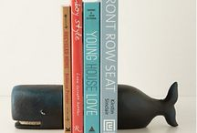Left on the shelf. / So many bookends to choose from.