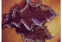 leaf paintings