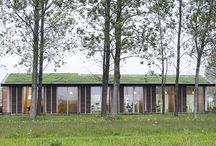 Biophillic tandartspraktijk / Tandarts Gijs wilde zijn patiënten behandelen in een gezonde en prettige omgeving. Uitgangspunt van dit ontwerp met veel groen en daglicht was dan ook de beleving van de patiënt. Het is een van de eerste voorbeelden van 'biophillic architecture' in Nederland.
