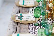 El arte del buen anfitrión / Decoración y diseño en la mesa. Charme no salão. Design in the table.
