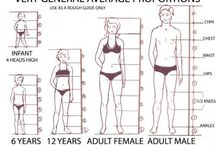 fashion figures for infant,child,adult female and adult male