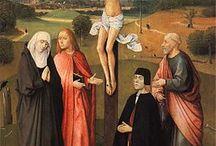NEDERLAND / Bosch Hieronymus  ( in detail ) / Literatuur: Bosch in detail (Till-Holger Borchert) De hooiwagen, de zeven hoofdzonden, dood van een vrek,