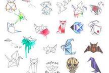 origami tatoos