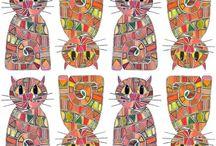 Patterns: Mosaic / scrapbook and craft inspiration featuring mosaic patterns