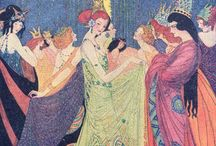 Fairytale Art / Illustrations to fairytales and magic stories Art Deco mostly